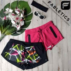 🌺NWT Bundle of 2 Fabletics workout run shorts